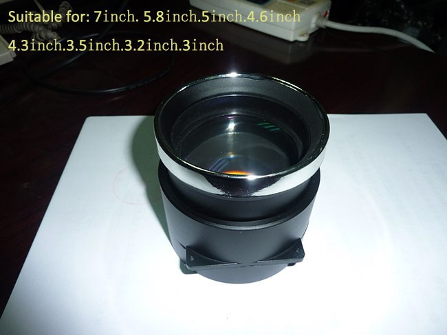 DIY projector lens 3.5 inch 5.8 inch 7 inch high definition projector diy parts 1 piece free shipping<br><br>Aliexpress