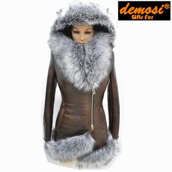 Производитель прямым поставщиком 7XL новые женские зимние мода куртка шерсть овец кожа натура овчины шуба бесплатная доставка