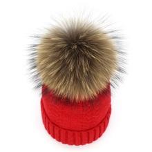 Ditpossible lana mujer sombrero gorros real piel POM poms sombreros de invierno skullies Bonnet gorro gorras para las mujeres(China)