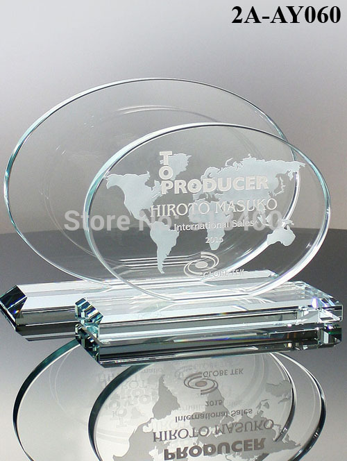 high quality best selling new design Jade Glass Award Revolution Glass Award(China (Mainland))