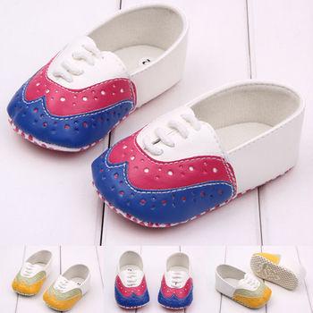 Кожа Обувь для младенцев Slip-On Лепнина Т-образным ремешком мягкая подошва для маленьких девочек мальчиков прогулочная повседневная обувь дл...
