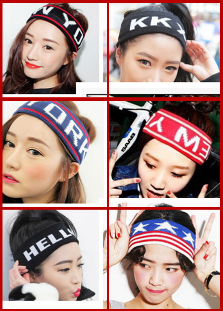 New arrival lady sports knitting wool stretch wide version girl hair ribbons/bandanas bands influx of women headwraps(China (Mainland))