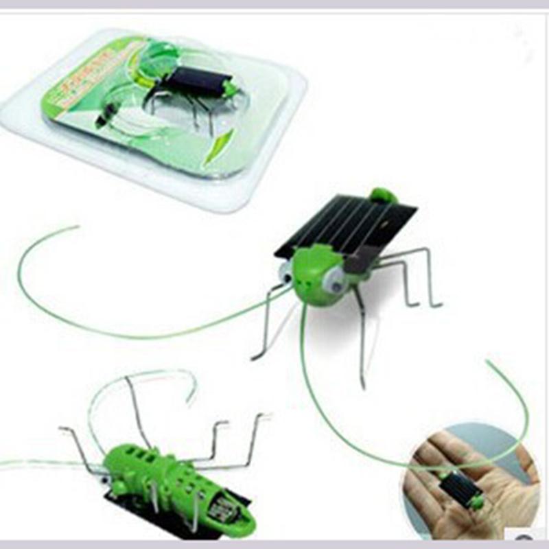 Creative DIY solar grasshopper cricket children's toys safe green energy solar-powered equipment(China (Mainland))