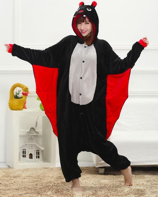 Симпатичные бат унисекс взрослые фланели животных пижамы косплей Pijama Onesies пижама ...