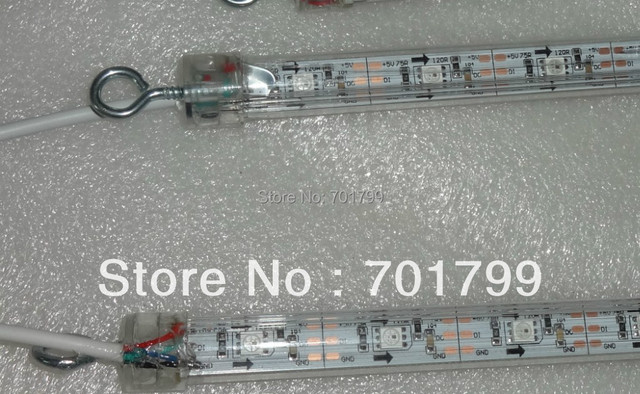1m long WS2812 digital meteor light;snowfall light,DC5V input,64pcs WS2812 LED,double side,32pixel per meter