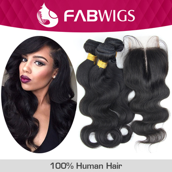 4pcs Lot Unprocessed Brazilian Virgin Hair Lace Closure With Bundles Brazilian Body Wave Double Wefted Human Hair Extensions