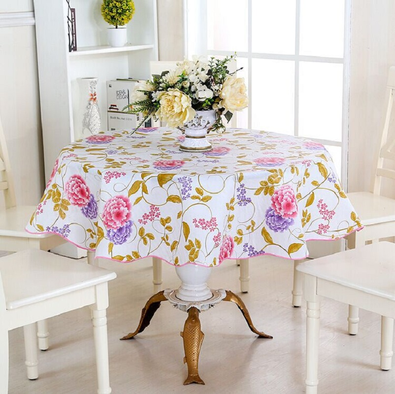 PVC table cloth Printed tablecloth Waterproof/Oilproof tablecloths 180*180cm Colorful table cover for Home Banquet tischdecke(China (Mainland))