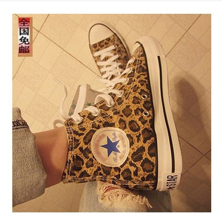 2015 sale new arrival freeshipping medium(b,m) lovers design shoes casual canvas leopard women's(China (Mainland))