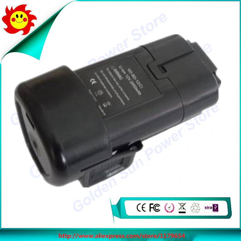 12V 2.0Ah Li-ion Battery For Black Decker Cordless BL1110 BL1310 LDX112C LB12, LBXR12, LBX12, GKC108 HPL10RS LDX112, LDX112C(China (Mainland))