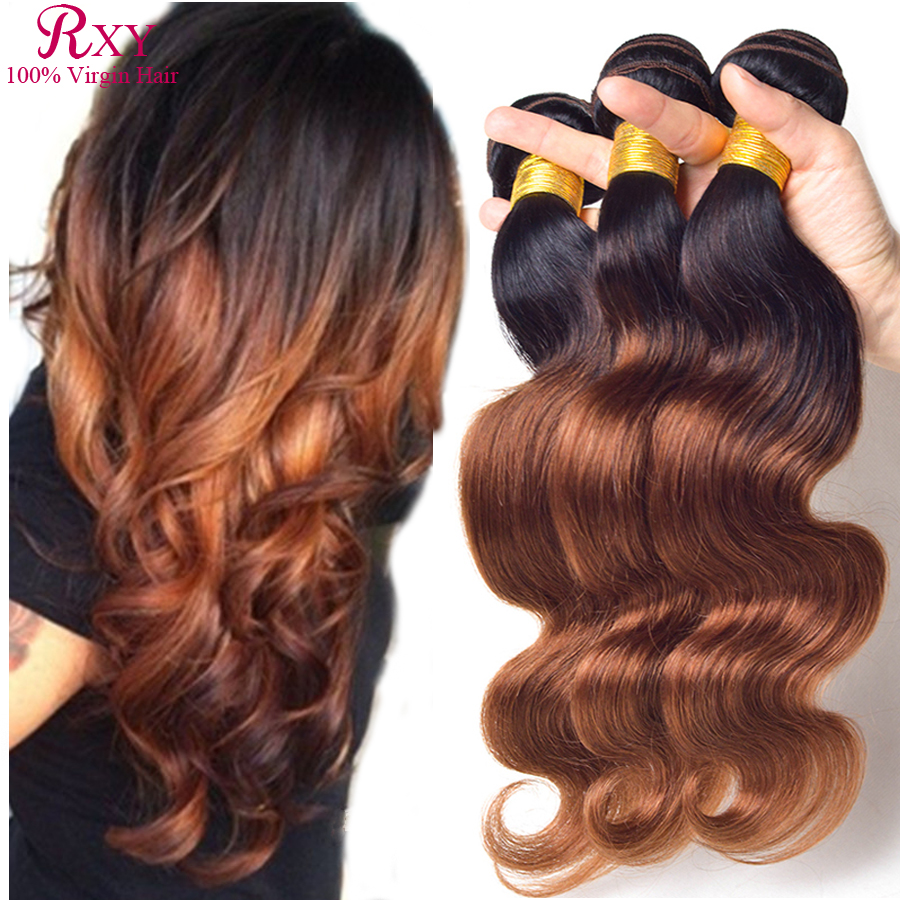 Гаджет  6A Queen Hair Products Ombre Brazilian Hair Body Wave Two Tone Human Hair Extensions 4pcs Brazilian Virgin Hair Ombre Body Wave None Волосы и аксессуары