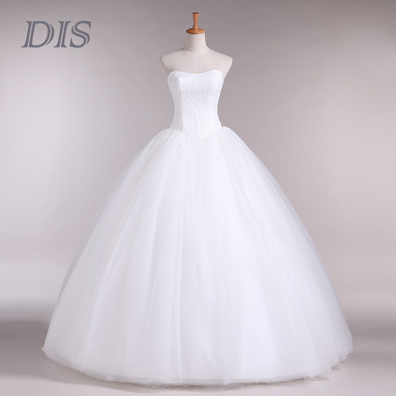 Custom Made Wedding Dress 2015 Cheap Celebrity Strapless Vintage Tulle Bridal Ball Gown Organza Lace bridal dresses D-14018(China (Mainland))