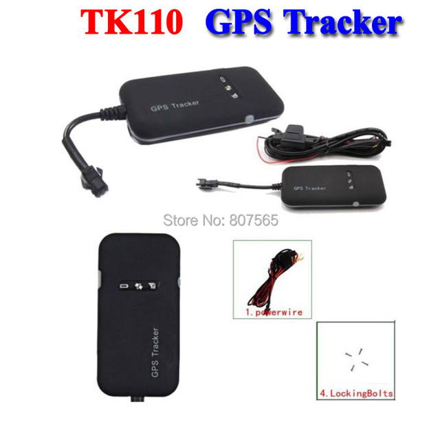 NEW Realtime GSM/GPRS/GPS Locator Car Vehicle GPS Tracker Tracking Device TK110 10 pcs/lot + retail package+ Free DHL