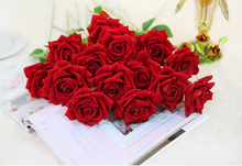 Best Sellers New pattern 10pcs/lot Simulation Rose Valentine Rose Flower Artificial Flower Wedding supplies gift Free shipping(China (Mainland))