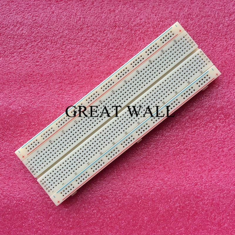 FREE SHIPPING! 10pcs/lot Breadboard 830 Point Solderless PCB Bread Board MB-102 MB102 Test Develop DIY(China (Mainland))
