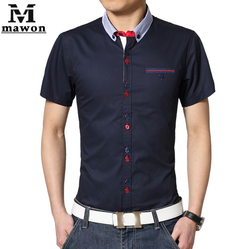 Italian Designer Men's Clothes Plus Size Dress Shirts