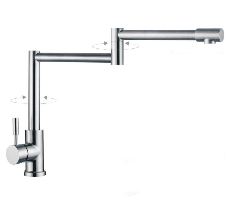 304 Stainless Steel Lead-free Kitchen Faucet Mixer Drinking Water Filter Tap purified Water Spout 301(China (Mainland))