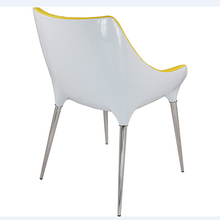 Free Shipping Coffee shop Armchair Yellow PU Leather(China (Mainland))