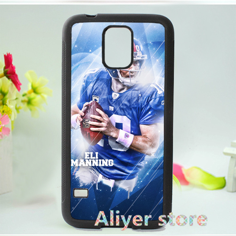 eli manningamerican football nfl new york giants phone case cover for Samsung galaxy S3 S4 S5 S6 S7 Note 2 Note 3 Note 4 3 E535(China (Mainland))