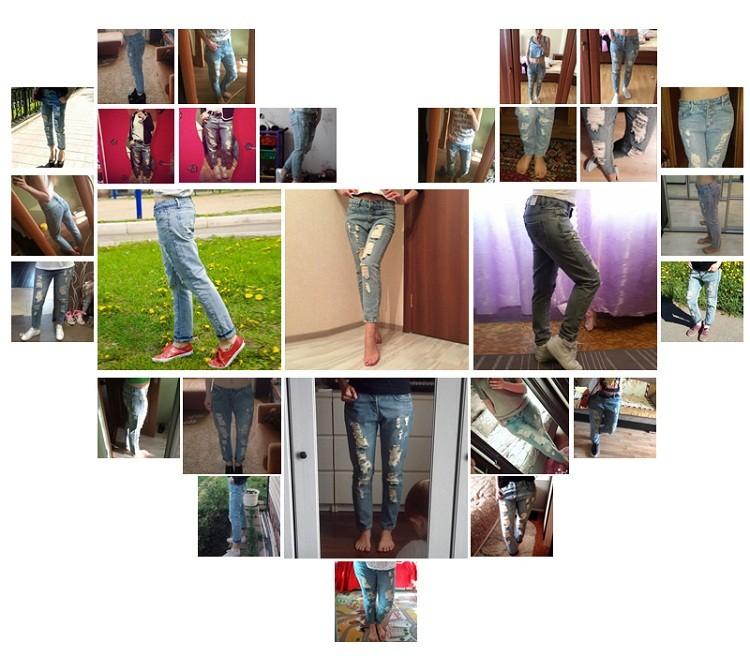 2016 Новая Мода Лето Стиль Женщины Джинсы разорвал Отверстия Гарем Брюки Джинсы Тонкий vintage boyfriend джинсы для женщин TB493