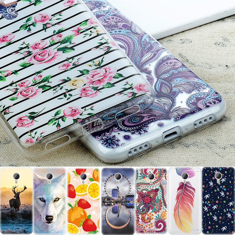 Flowers Soft TPU Cover Mobile Phone Cases For Meizu M3S M3 Note Mini U10 U20 Pro 6 Case Fruits Animals Pattern Silicone Shell(China (Mainland))