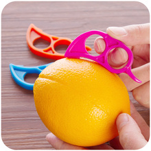 2pcs/lot Free Shipping Lemon Orange Peeler Easy Opener Kitchen Tools Helper(China (Mainland))