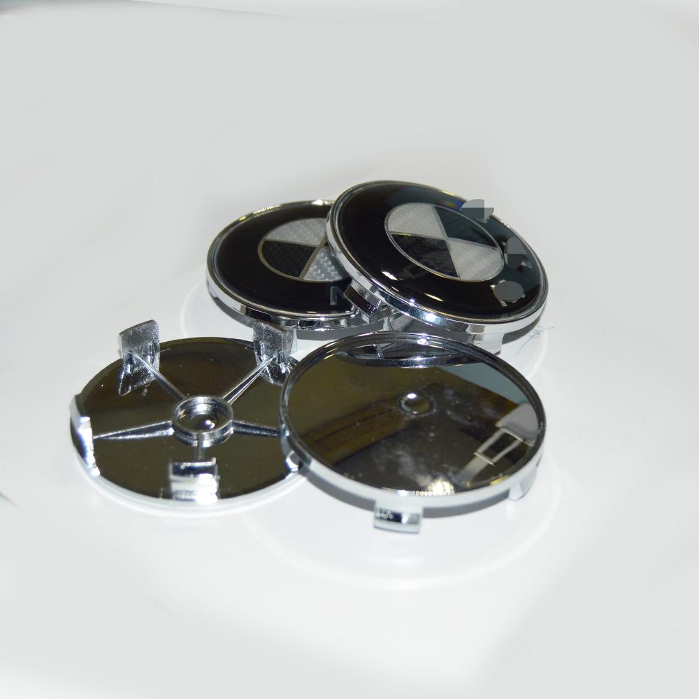 20Pics/Lot carbon fiber black/white Car Wheel Hub Cover emblem 68mm 2.67inch Auto Center Caps - OEM Part Factory store