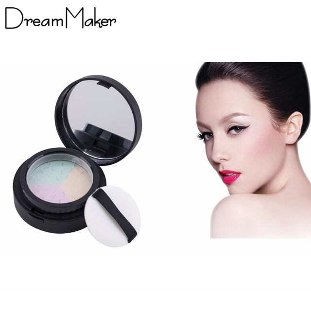 Новое поступление марка макияж компактная с губкой зеркало комплект минералы полировки ...