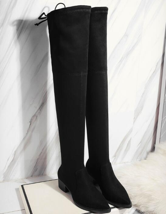 Popular Thigh High Lace Boots Size 9-Buy Cheap Thigh High Lace