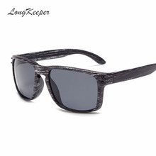 Fashion Mens Wood Sunglasses Reflective Sports Sun Glasses Men Vintage Square Eyewear Revits Gafas Oculos De Sol 1pc - L&K Store store
