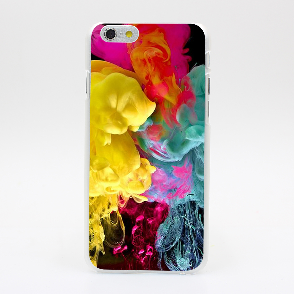 2142U Clouds Paint Vapors Watercolor Mix Hard Case Cover for iPhone 4 4s 5 5s SE 5C 6 6s Plus Skin Back(China (Mainland))