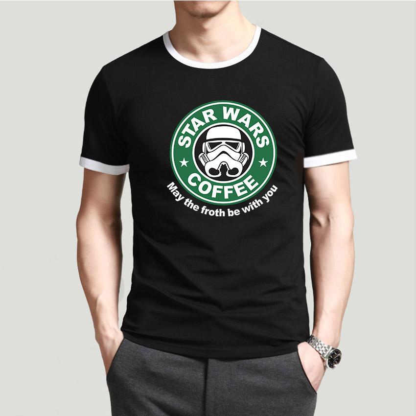 Fashion Men's t-shirts Custom Design Unique Star Wars T Shirt New Arrival Male Tee shirt Masculine Summer Cotton Clothing(China (Mainland))