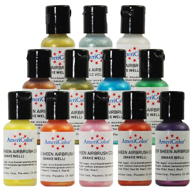americolor amerimist mtallique perle clat arographe doux gel pte alimentaire couleur nacr coloration fondant gteau - Prix Colorant Alimentaire