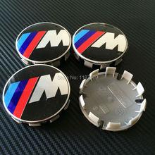 4pcs 68mm ///M M Logo Hub Cap Cover Emblem sticker Chrome Wheel Center caps auto covers for BMW m3 m5 X1 X3 X5 X6 Center Cap(China (Mainland))