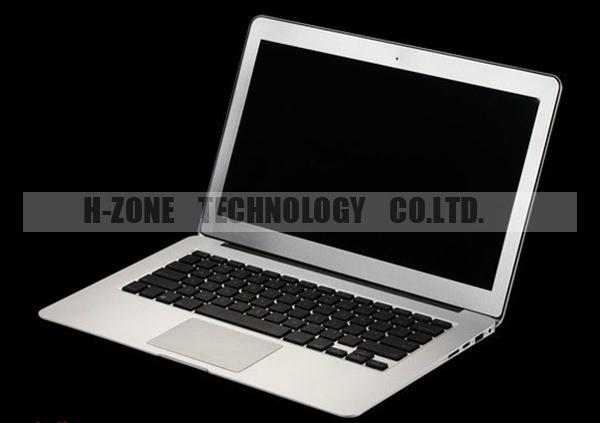 "2014 New 13.3"" Ultra Thin Laptop Full Aluminium Metal Notebook Intel Celeron 1037U Dual Core 1.8Ghz 4G RAM & 64G SSD HZ-M2C(Hong Kong)"