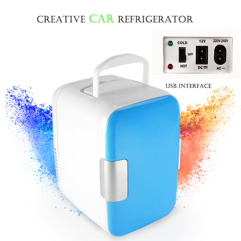 freeshipping top quality mini Car refrigerator Heat and cool refrigerator Mini fridge Dual use Portable refrigerator usb DC 12V(China (Mainland))