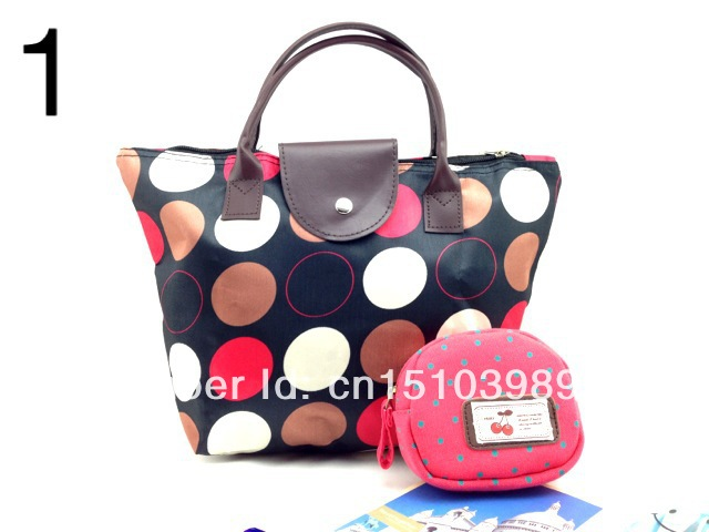fashion shopping bags,can flod to make another small bags,many color,suit for all seasons,fashion and casual 216(China (Mainland))