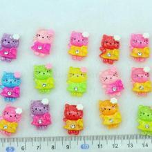 Set of 100pcs mixed lovely kitty kawaii Cabochons w/rhinestone 20mm Cell phone decor, hair clips,embellishment,DIY-SZ0236