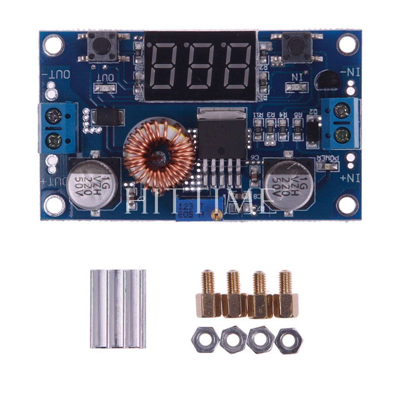 New Practical 5A 75W DC To DC Adjustable Step-down Converter Module W/ Digital Voltmeter #52857(China (Mainland))
