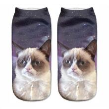 New 3D Printed Grumpy Cat Women Socks Cute Low Cut Ankle Sock Multiple Cartons Fashion Style CNW81