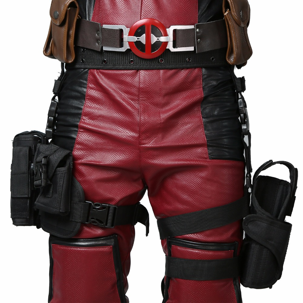Deadpool Belt + Tactical Leg Bag Wade Wilson Pockets Holster New Movie Cosplay Props XCOSER Custom Made for Halloween Parties(China (Mainland))
