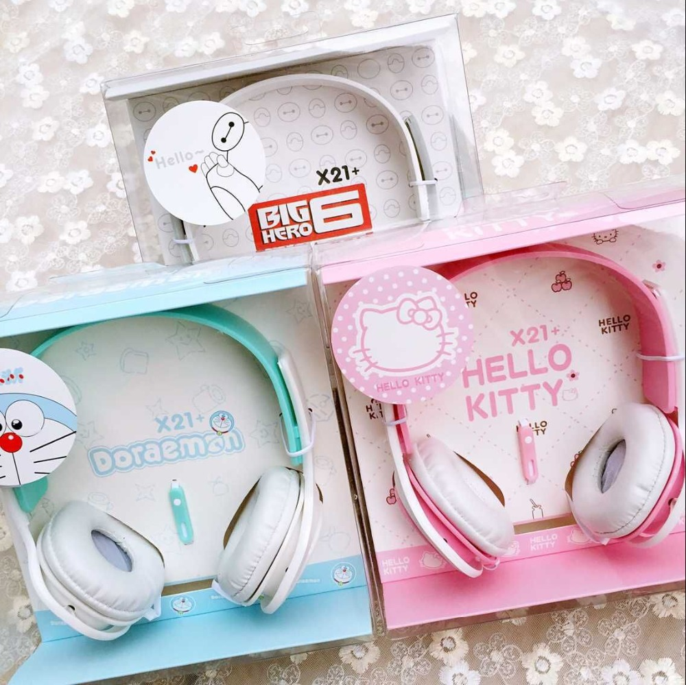 2016 Hello kitty font b Headphone b font with Mic for Iphone 5 5s 6 6plus