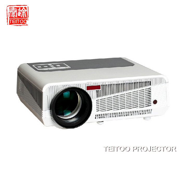 1200*800 Portable Mini HD LED Projector 3500 Lumens Support Silver/Black 3D Moive Multimedia Home Projector Factory Direct Sale(China (Mainland))