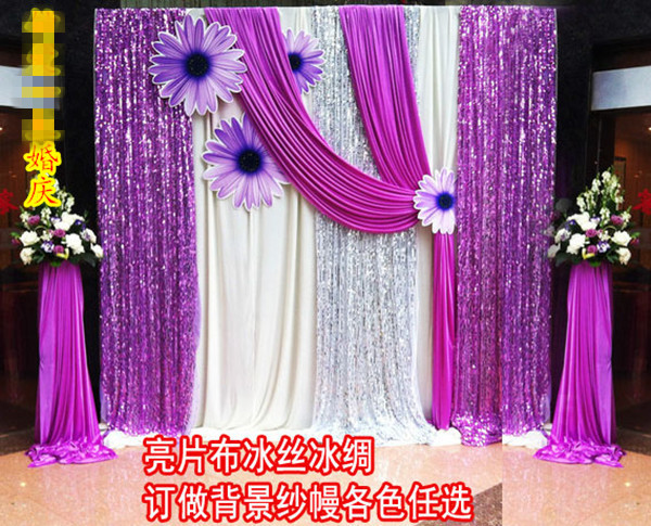 Wall Decorations For Engagement Party : Gauze drapes for wedding party stage decorations wall