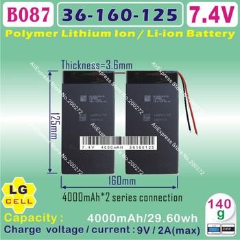 "[B087] 7.4V,8000mAH,[36160125] Polymer lithium ion battery (LG cell) 10.1"" CUBE U30GT 1 / 2 quad core;U30GT dual core tablet pc"