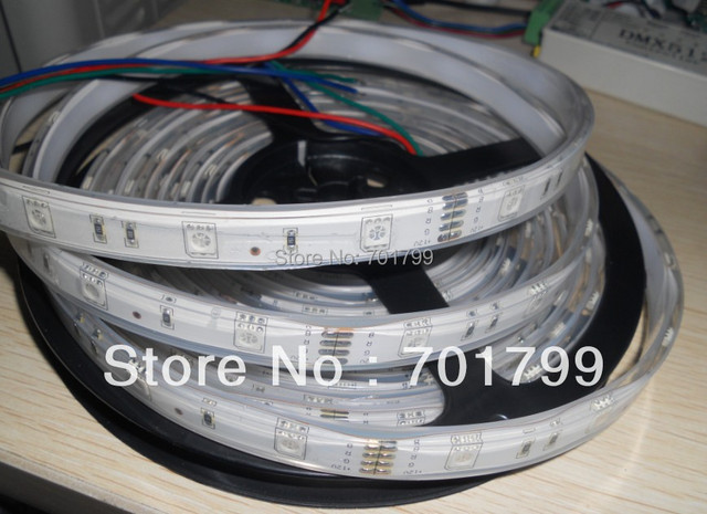 5m(one roll) 5050 SMD 30LEDs/m led strip,waterproof by silicon tubing and coating;RGB color;can be used underwater;IP68;18-20lm