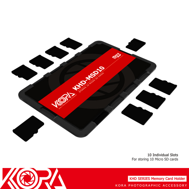 Kora Credit Card Size Lightweight Portable SD/MSD/Micro SD/TF Camera Memory Card Case Bag Holder Protector Writable Label