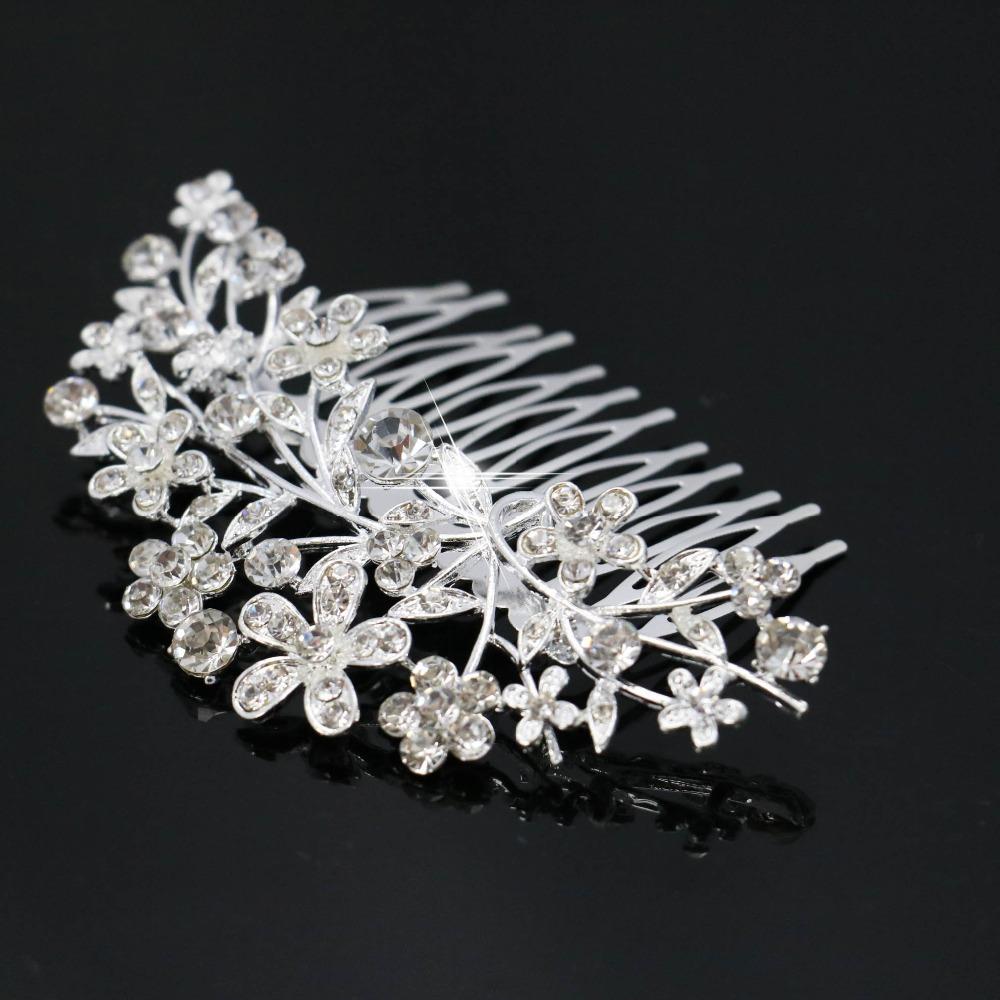 Wholesale Trendy Hairwear Women Accessories Elegant Crystal Rhinestone Tiara Wedding Prom Bride's Headband Wedding Hair Comb(China (Mainland))