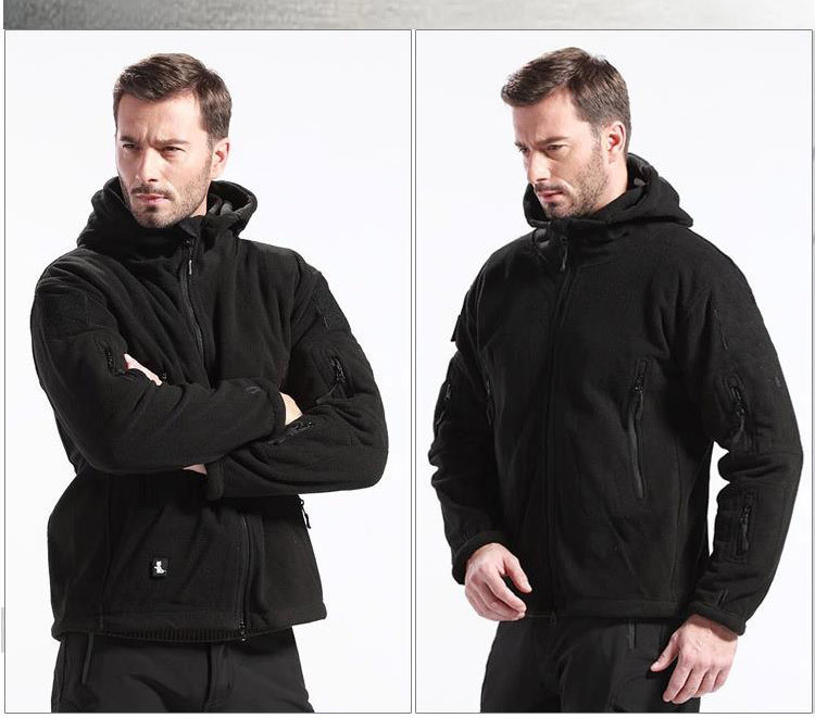New Outdoors Military Tactical Outdoor Soft Shell Fleece Hoody Jacket Men Sportswear Thermal Hunting Hiking Sport Hoodies(China (Mainland))