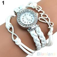 Vogue многослойных кожаный ремешок браслет Часы слова стиле шарм браслет наручные часы 2bvj