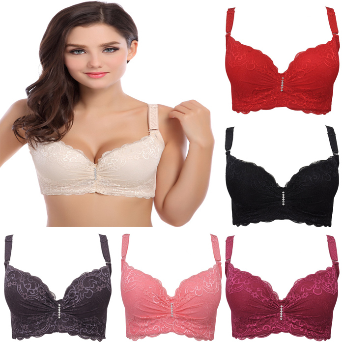 3/4 cup lace push up bra large size sexy women underwear vice milk thin section cup C cup D cup E bra for women(China (Mainland))
